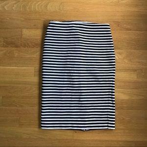 MERONA black and white striped pencil skirt